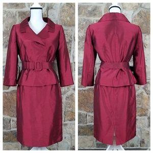Tahari ASL 8P 8 Belted Skirt Suit